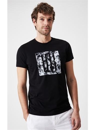 Boris Becker Boris Becker Kısa Kol Bisiklet Yaka Logo Baskılı Slim Fit Siyah Erkek T-Shirt Siyah